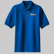 Drink n Learn (Dark) Men's Classic Pique Sports Shirt
