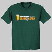 Drink n Learn (Dark) Fruit of The Loom Heavy Cotton T-Shirt
